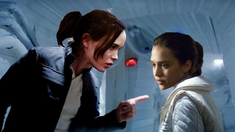 Illustration for article titled Ellen Page is Han Solo, Jessica Alba is Princess Leia for Jason Reitman's live read