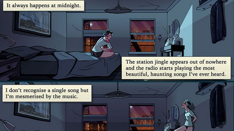 Illustration for article titled Read This: A haunting little comic about a mysterious radio station