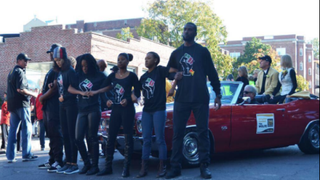 Members of Concerned Student 1950 blocked University of Missouri President Tim Wolfe's car during homecoming Oct. 10, 2015. The group demanded that the president speak with its members about racial tensions on the campus. The president, who resigned Nov. 9, 2015, asked police to have them moved from the road.  Twitter