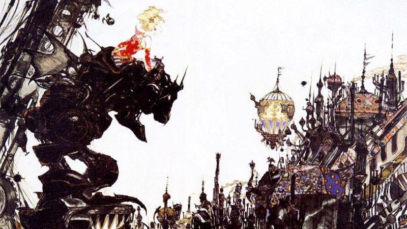 Final Fantasy art by Yoshitaka Amano