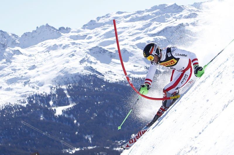Marcel Hirscher on his winning run. Photo: Alexis Boichard/Getty Images