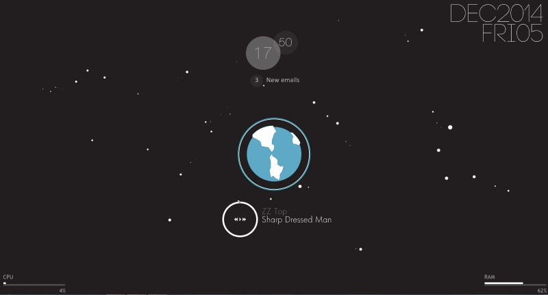 Illustration for article titled The Sharp Dressed Earth Desktop