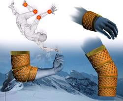 Illustration for article titled Portable Splint for Extreme Sports Welds Itself Together