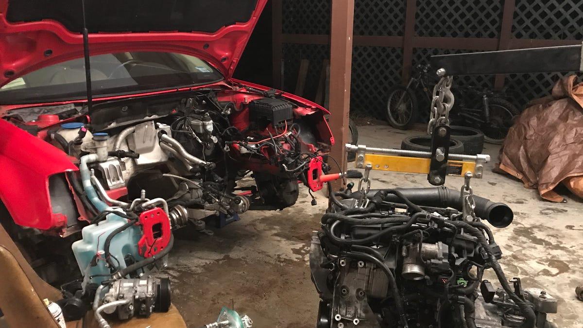 My 2010 Audi A3  I just put a 2016 Tiguan engine in it