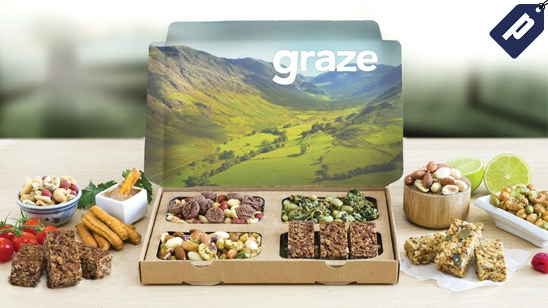 Illustration for article titled Get A Free Box Of Delicious Snacks From Graze & Satisfy Your Mid-day Craving