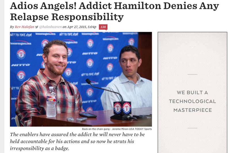 Illustration for article titled Sociopathic Angels Blogger Posts Now-Deleted Rant About Josh Hamilton [Updates]