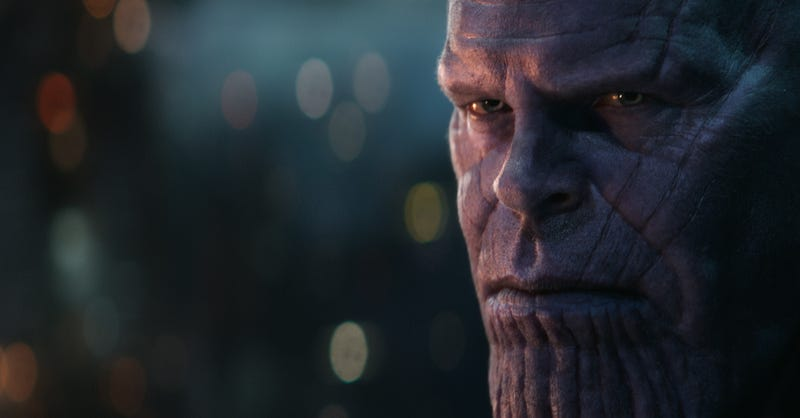"Illustration for article titled Netflix kicks off a whole new Marvel civil war by asking fans if Thanos is an ""intergalactic sociopath"""