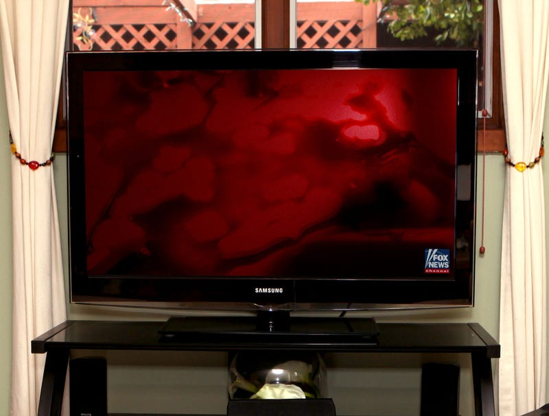 Illustration for article titled Fox News Now Just Airing Continuous Blood-Red Screen With Disembodied Voice Chanting 'They're Coming To Kill You'