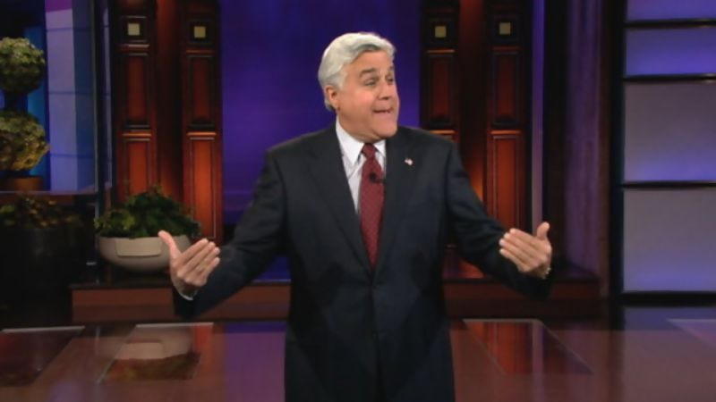 Illustration for article titled Jay Leno only had enough time to make 4,607 jokes about Bill Clinton