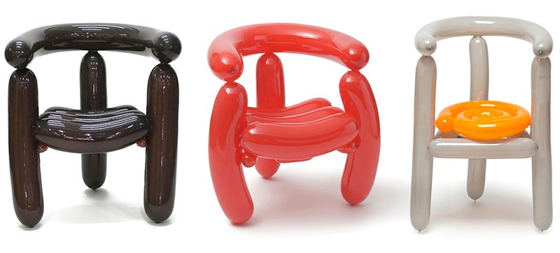 You can totally sit on this balloon animal furniture for Air furniture