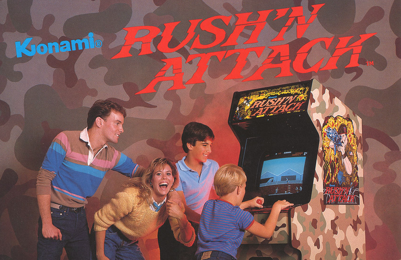 Illustration for article titled Vintage Arcade Flyer For Rush'N Attack