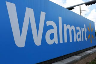 A Wal-Mart sign is seen Aug. 18, 2015, in MiamiJoe Raedle/Getty Images