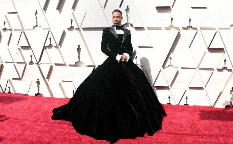 Billy Porter wears custom Christian Siriano to the 91st Annual Academy Awards on February 24, 2019 in Hollywood, California.