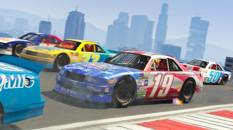 Illustration for article titled GTA Online's Free New Update Is Like Nascar On Steroids