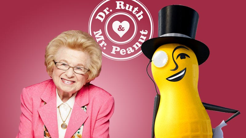 ba7dffaad Illustration for article titled Mr. Peanut and Dr. Ruth have hooked up for  some