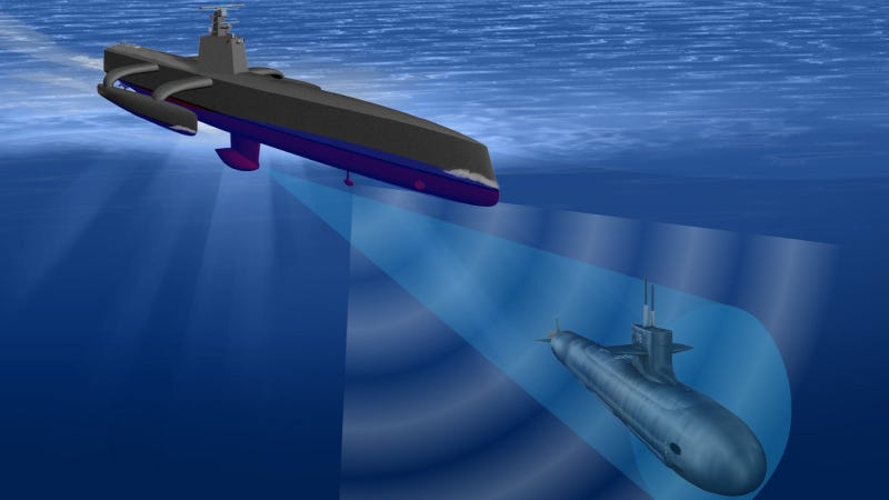Illustration for article titled DARPA's Next Sub Hunter Won't Need Us Puny Humans