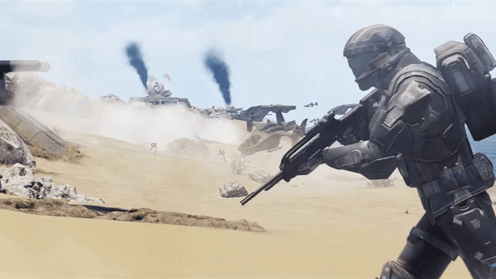 Mod Turns Serious Military Shooter Into Giant Halo Game