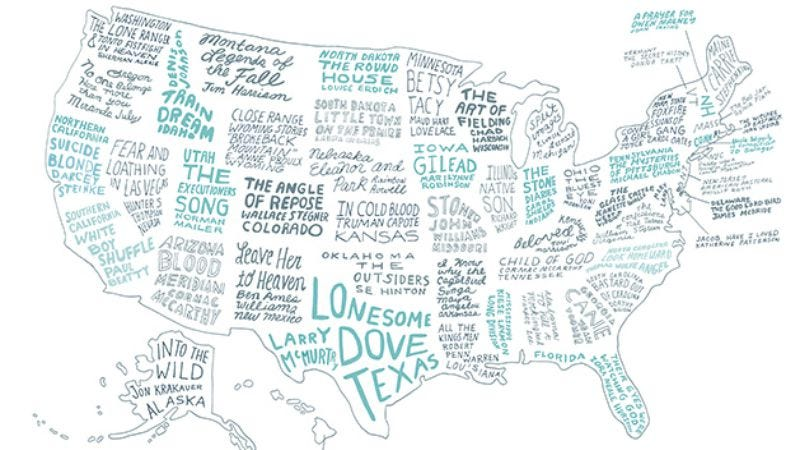 Illustration for article titled Brooklyn Magazine made a map of the best book from every state