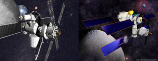 Space hab concept art (Left image: Lockheed Martin Right image: Sierra Nevada)