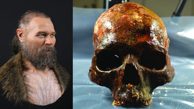 Facial Reconstruction of a Prehistoric Man Whose Head Was Mounted on a Stake