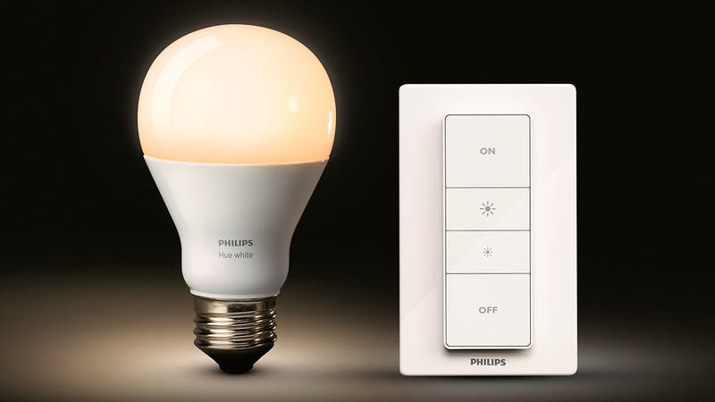 you can now dim philips 39 hue bulbs from a wireless remote. Black Bedroom Furniture Sets. Home Design Ideas