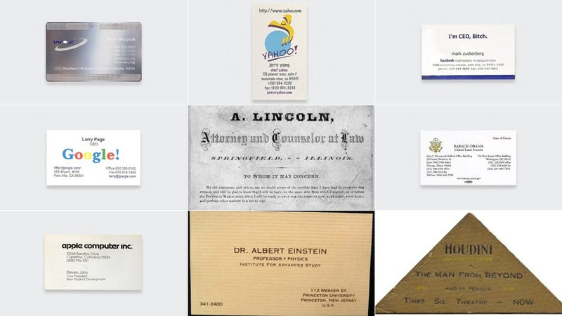 Illustration for article titled Here Are the Business Cards of Famous People