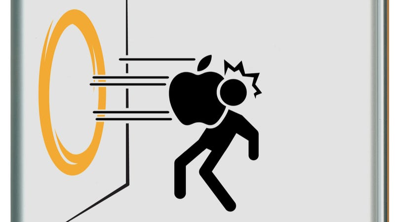 Illustration for article titled Unofficial Portal iPad Decals Turn Apple's Logo into Weapons