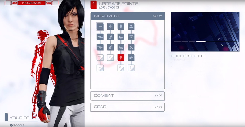 Illustration for article titled New Mirror's Edge Game Locks Some Basic Skills Behind Upgrades