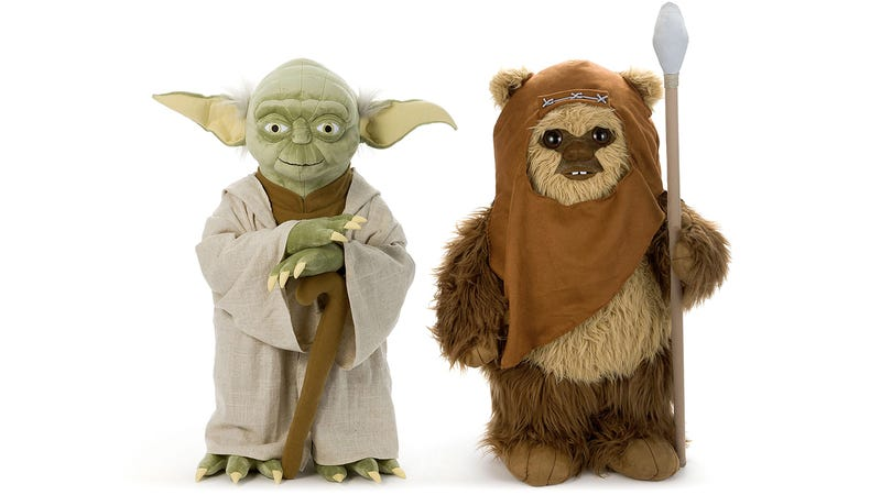 Illustration for article titled Life-Size Plush Versions of Yoda and Wicket Are the Perfect Sidekicks