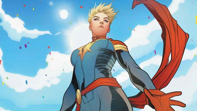 Illustration for article titled Se filtran las primeras imágenes de la nueva Capitán Marvel en el rodaje de Avengers 4