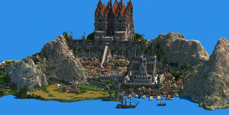 Dude spends 4.5 years building fantasy kingdom in minecraft ...