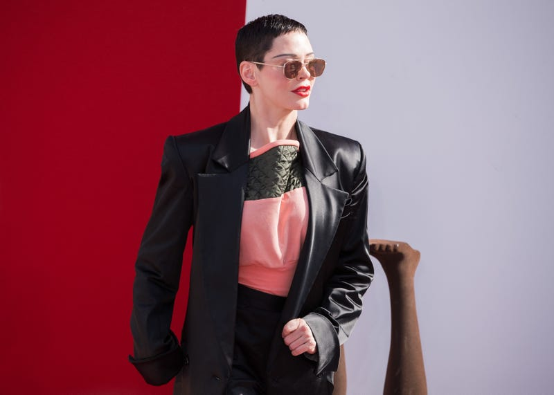 Rose McGowan attends the Vivienne Westwood show as part of the Paris Fashion Week Womenswear Fall/Winter 2018/2019 on March 3, 2018 in Paris, France.