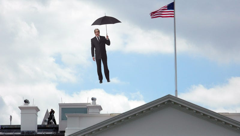 Illustration for article titled Robert Mueller Ascends Into Sky With Umbrella After Trump Family Promises They Learned Lesson About Honesty