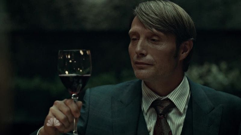 Hint: It's not an evil sommelier (Hannibal)