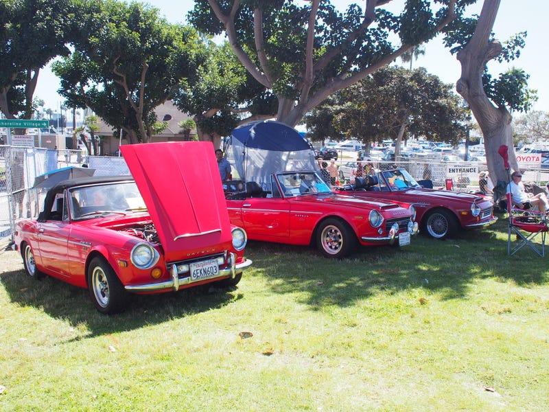 Red Datsun Fairlady Corner