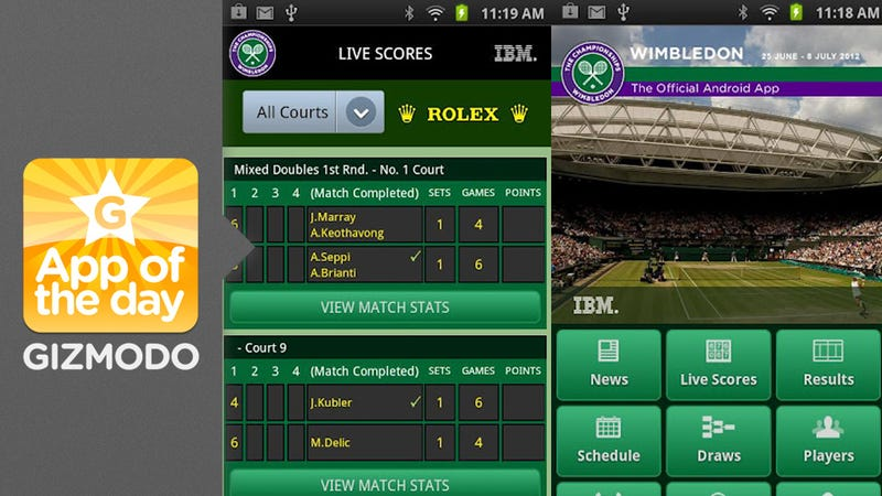 Illustration for article titled Wimbledon: Watch Federer Take on Nadal on Your Android Phone