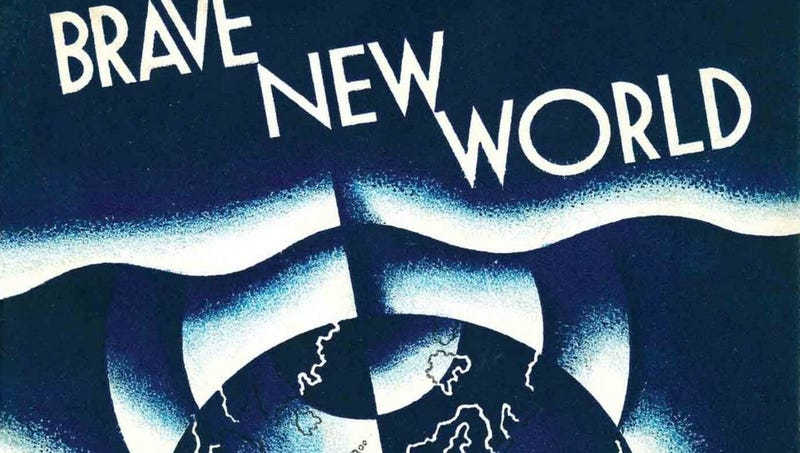 The cover of Brave New World.