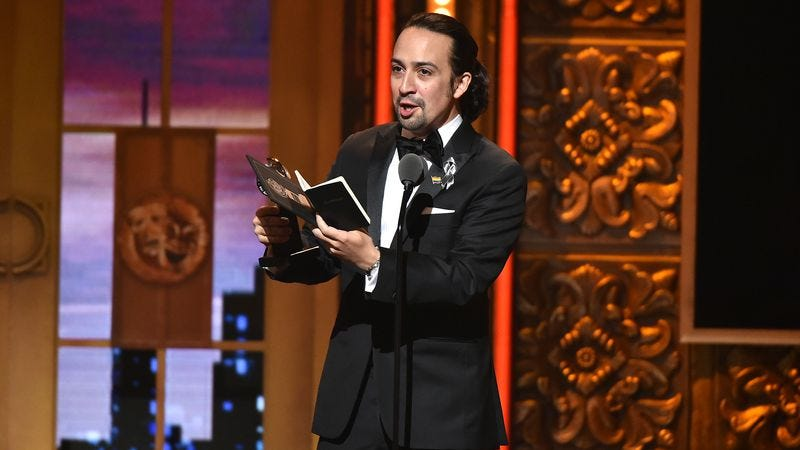Lin-Manuel Miranda at the Tonys (Photo: Theo Wargo/Getty Images)