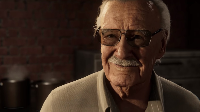 The incomparable Stan Lee, as he appears in Marvel's Spider-Man.
