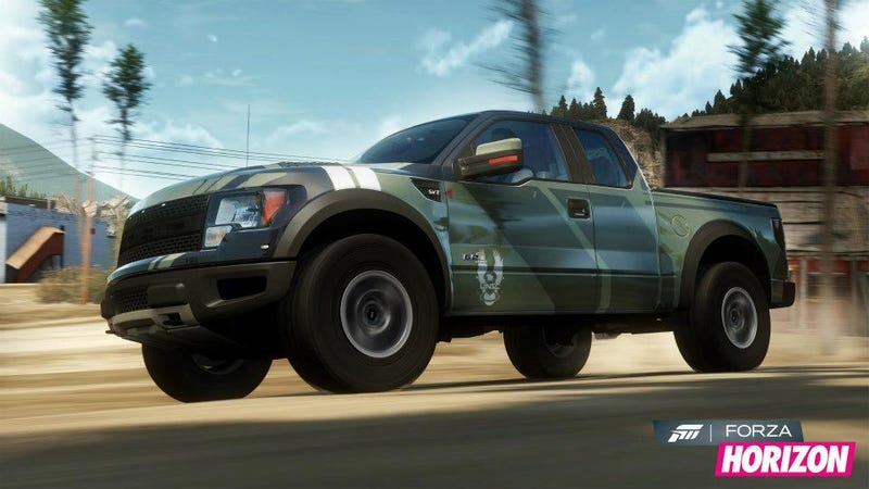 Illustration for article titled This Halo Raptor In Forza Horizon Is As Close As You'll Get To A Sim Warthog