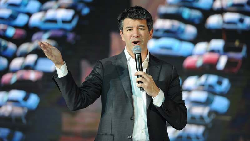 Uber CEO Travis Kalanick gives a speech at a tech conference in Beijing last summer. (Photo: Wang K'aichicn/VCG/VCG via Getty Images)