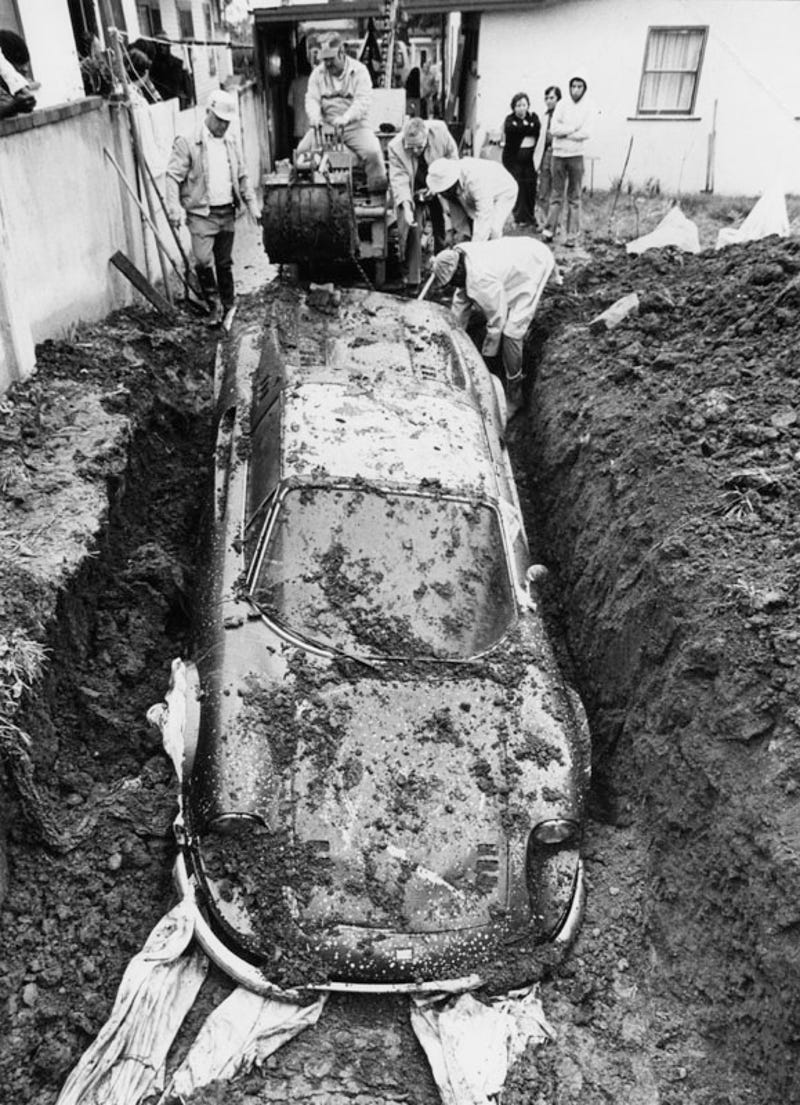 the true story of how a ferrari ended up buried in someone u0027s yard