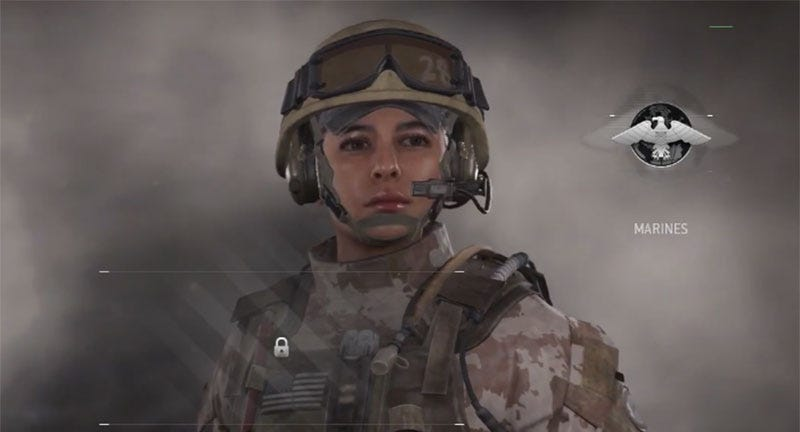 Illustration for article titled Modern Warfare Now Has Female Soldiers