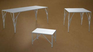 Illustration for article titled You Can Ship This Stainless Steel Table In an Envelope