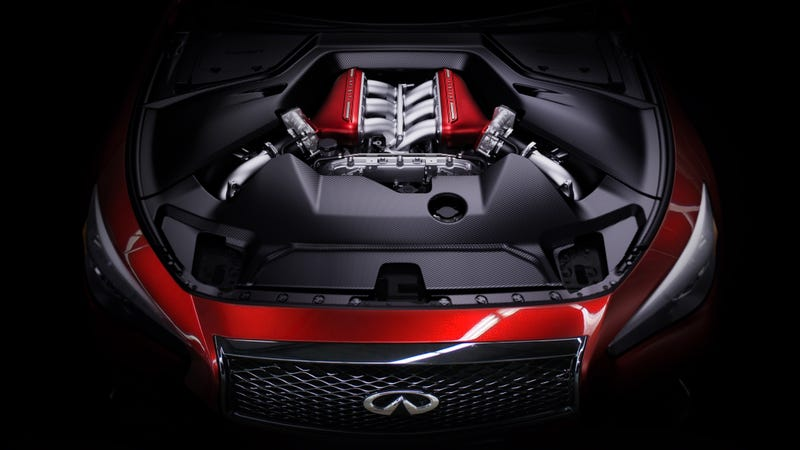 Illustration for article titled The Infiniti Q50 Eau Rouge Is The GT-R Sedan We've Always Wanted