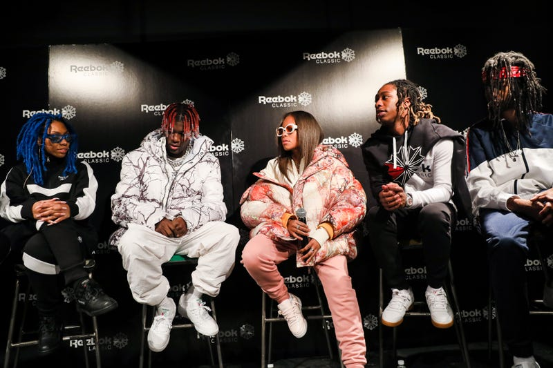 Rox Brown, Lil Yachty, Kodie Shane, JBans2Turnt and Khalfani Dannis at Reebok's Breaking Classic at the Classic Car Club in New York City on Feb. 7, 2018, in New York City (courtesy of Reebok)