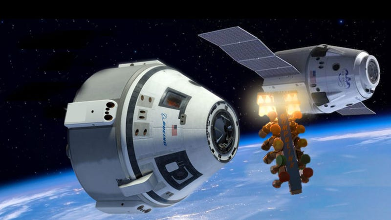 Illustration for article titled NASA Orders Crewed Vehicle From SpaceX And Starts A New Space Race