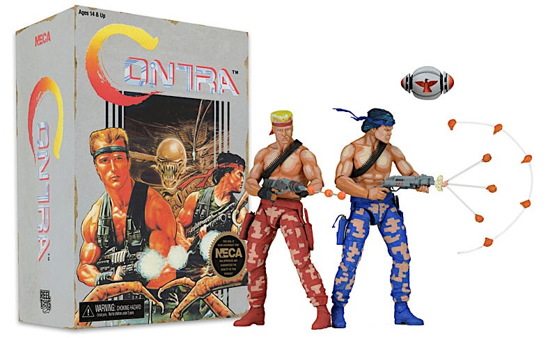 Illustration for article titled The Konami Code Won't Make These Contra Figures Arrive Any Sooner