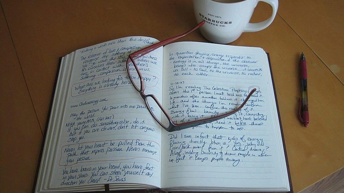 diary style writing