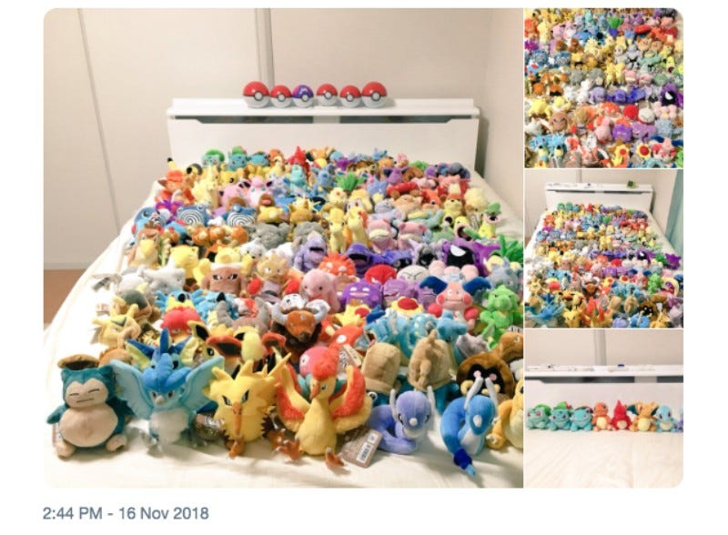 Illustration for article titled Buying Plushies Of The Original 151 Pokémon Is Expensive
